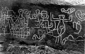 gravure rupestre colombie